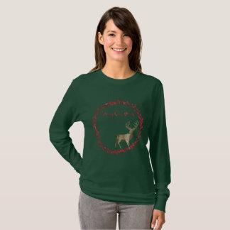 Guirnalda de las Felices Navidad del arbolado Camiseta