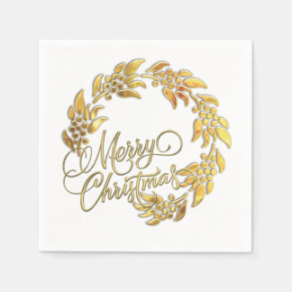 Guirnalda de las Felices Navidad Servilletas De Papel