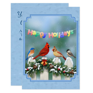 Guirnalda de los pájaros y del navidad del día de invitación 8,9 x 12,7 cm