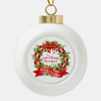 Guirnalda de Navidad: Felices Navidad y una Feliz Adorno