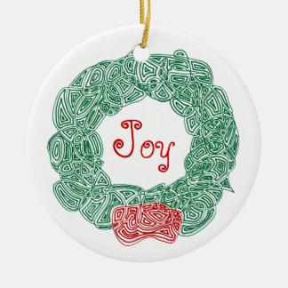 Guirnalda de Scribbleprints - blanco, en rojo Ornamento De Navidad
