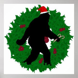 Guirnalda de Squatchin del navidad Póster