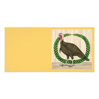 Guirnalda de Turquía Tarjetas Con Fotos Personalizadas