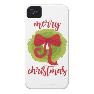 Guirnalda del arco de las Felices Navidad Funda Para iPhone 4 De Case-Mate