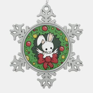 Guirnalda del conejito de Flutterby - decoración Adorno De Peltre En Forma De Copo De Nieve