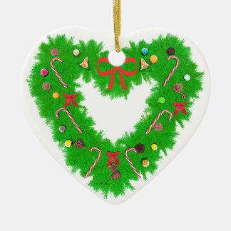 Guirnalda del corazón del navidad ornamentos de navidad