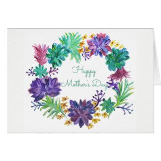 Guirnalda del día de madre tarjeta de felicitación