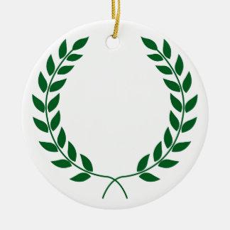 Guirnalda del laurel ornamentos para reyes magos