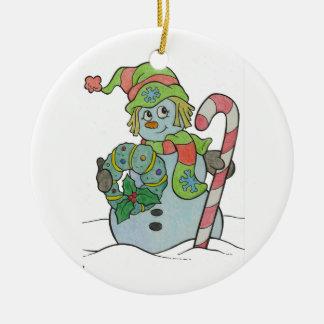Guirnalda del muñeco de nieve ornamentos de reyes magos