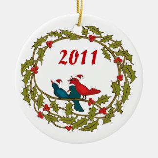 Guirnalda del navidad ornamento de navidad