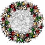 ¡Guirnalda del navidad con su propia foto! Esculturas Fotográficas