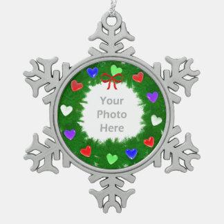 Guirnalda del navidad de corazones adornos