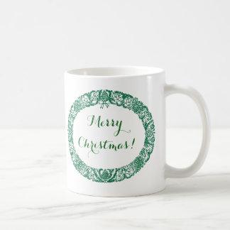 Guirnalda del navidad de Forest Green a modificar Taza De Café