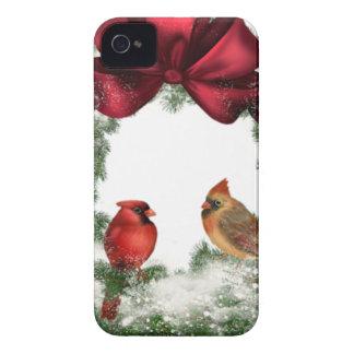 Guirnalda del navidad del vintage funda para iPhone 4 de Case-Mate