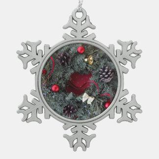 Guirnalda del navidad en lunares adornos