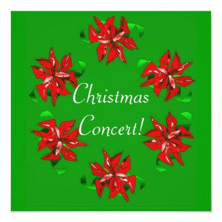 Guirnalda del navidad invitación 13,3 cm x 13,3cm
