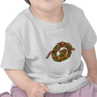 Guirnalda del oso de peluche del navidad camiseta