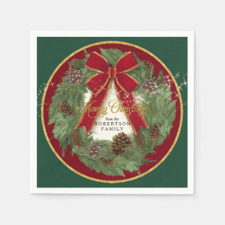 Guirnalda del pino de la decoración de la servilleta desechable