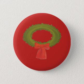 Guirnalda en un botón rojo