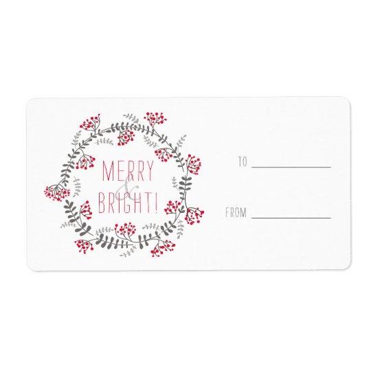 Guirnalda feliz y brillante etiquetas de envío