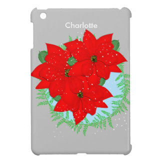 Guirnalda festiva del Poinsettia rojo de las