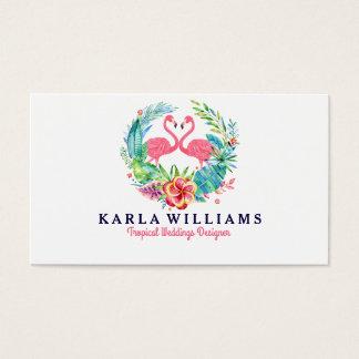 Guirnalda floral colorida del planificador tarjeta de visita
