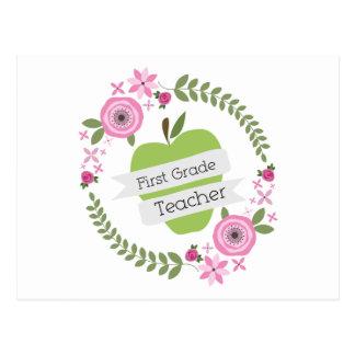 Guirnalda floral de Apple del verde del profesor Postal