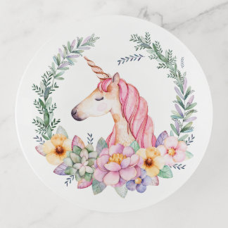 Guirnalda floral de la acuarela rosada del
