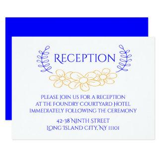 Guirnalda floral de la flor de la recepción invitación 8,9 x 12,7 cm