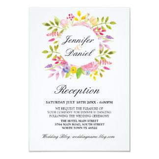 Guirnalda floral de los detalles de las tarjetas