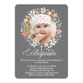Envía las invitaciones para la celebración del bautizo de tu hijo/z con una invitación de bautizo de Zazzle