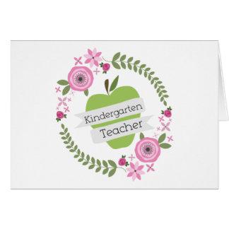 Guirnalda floral verde de Apple del maestro de Tarjeta De Felicitación