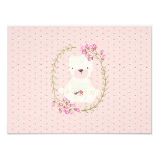 Guirnalda floral y corazones del oso lindo foto