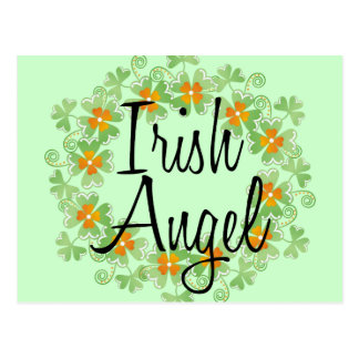 Guirnalda irlandesa del trébol del ángel postal