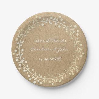 Guirnalda más astuta natural de la guirnalda del plato de papel