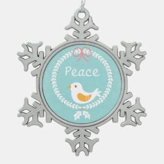 Guirnalda moderna del navidad blanco con la paloma adorno