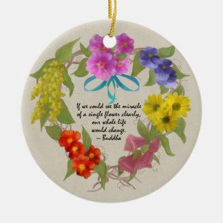 Guirnalda pintada de la flor con el ornamento de l adorno de reyes