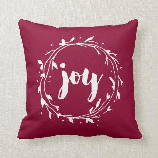 Guirnalda roja de la alegría cojín decorativo