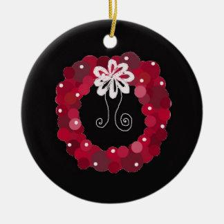 Guirnalda roja elegante del navidad adorno de navidad