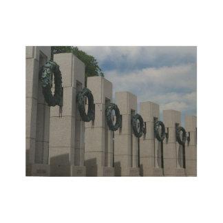 Guirnaldas conmemorativas de la Segunda Guerra Póster De Madera