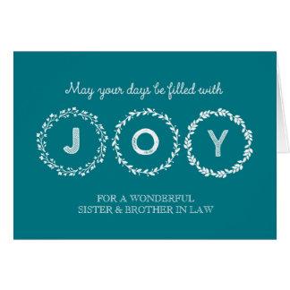 Guirnaldas hermana y cuñado del navidad de la tarjeta de felicitación