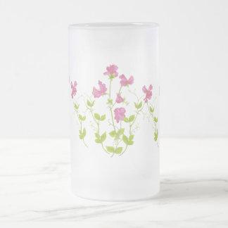 Guisante de olor original de la acuarela, flor del jarra de cerveza esmerilada