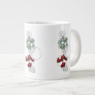 guisantes de olor taza de café gigante