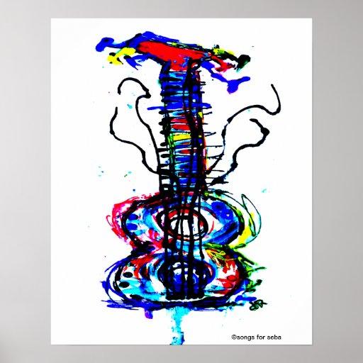 Guitarra abstracta posters