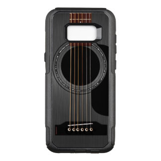 Guitarra acústica negra de la ceniza funda otterbox commuter para samsung galaxy s8+