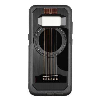Guitarra acústica negra funda otterbox commuter para samsung galaxy s8