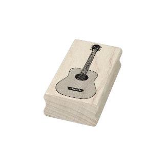 Guitarra acústica sello de caucho