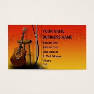 Guitarra acústica - tarjeta de la industria