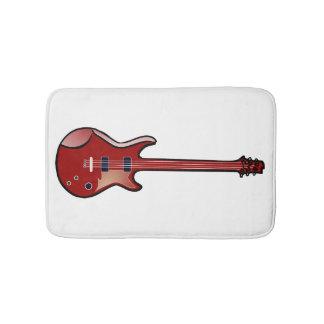 Guitarra baja alfombrilla de baño