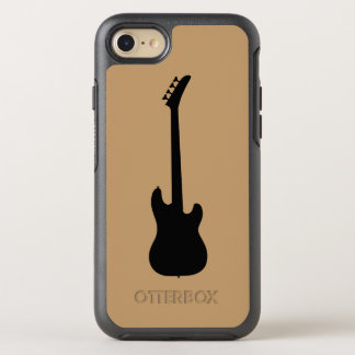 Guitarra baja de negro de la música moderna en el funda OtterBox symmetry para iPhone 8/7